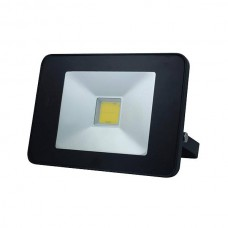 LED FLOOD LIGHT 20W MET BEWEGINGSMELDER ZWART, NEUTRAALWIT